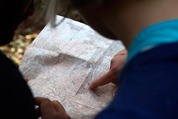 Mapa gymkana prueba orientación