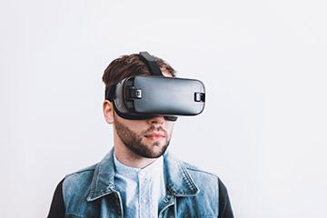Realidad virtual gafas juego persona
