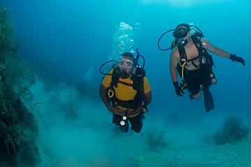 buceo submarino inmersión bautismo mar
