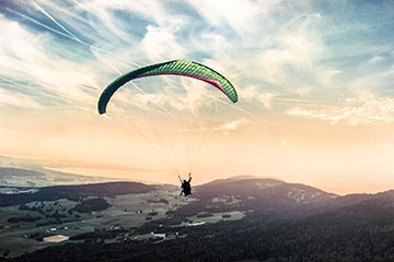 parapente paisaje deporte extremo naturaleza montañas