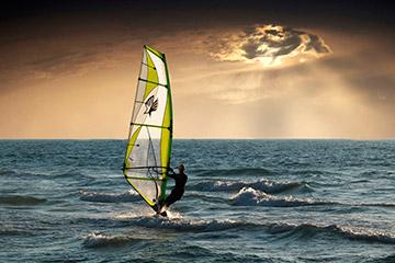 Windsurf mar océano olas