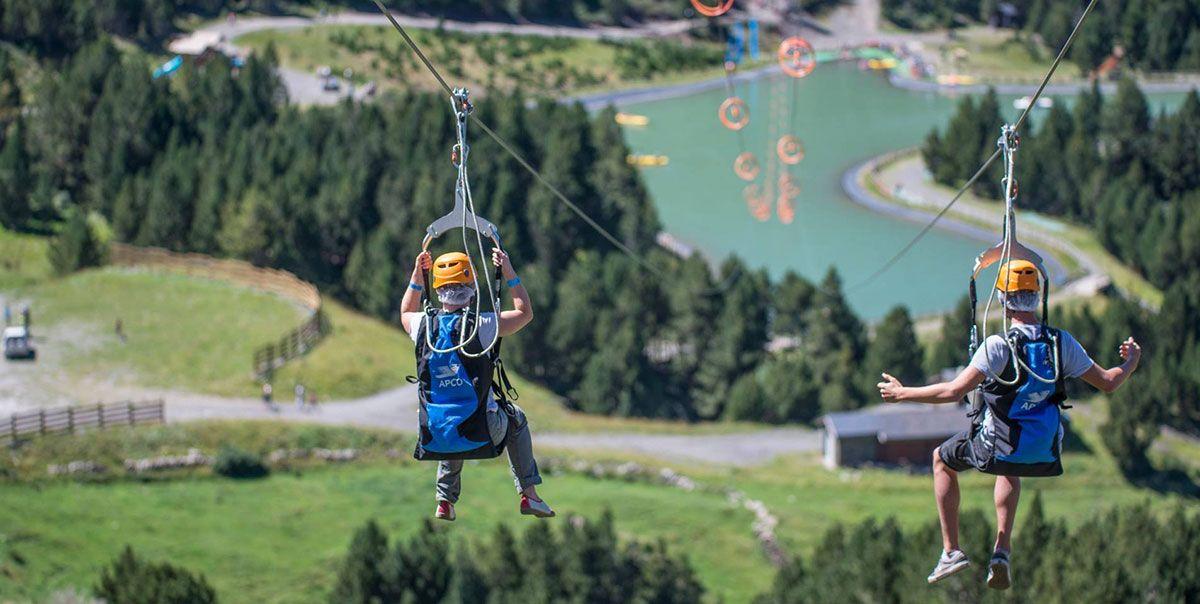 Tirolina multiaventura naturaleza aventura descenso euskadi