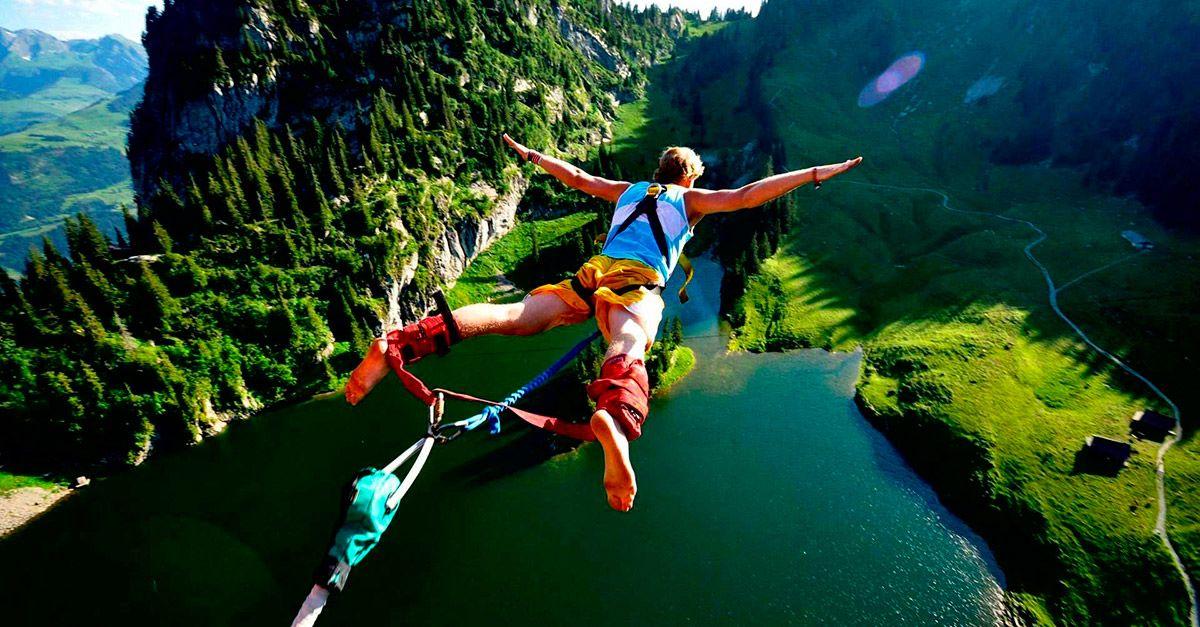 hacer puenting naturaleza deporte extremo salto euskadi